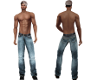 Low Rise Faded Jeans