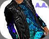 Leather Jacket & Top~Blu