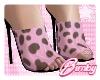 Pink Cow Heels