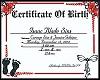 Isaac Blade Certificate