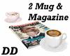2Coffee mug & magazine