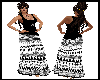 BOHO White & Black Dress