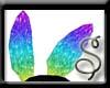 Rainbow Bunny Ears