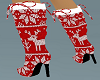 Christmas boots heels