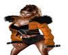 Orange Jacket Black fur