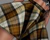 N. Plaid Skirt Mustard L