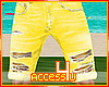 ! Yellow Ripped Jeans