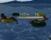floaties for 6 w/ drinks