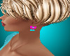 Aqua and Pink Bow Earrin