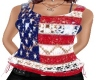 USA Flag Lace Top