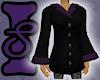 Black Coat w/Purple Fur