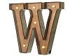 (AF) Sign Letter W