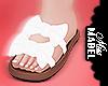 ! Bow Tie Sandal White