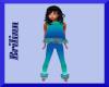 [B] Girlz Teal Blue Fit