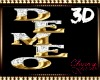 DeMeo 3D Sign