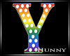 H. Rainbow Letter Y