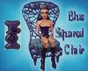 Blue Squared Chair
