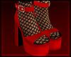 [💋] Platform Red Sock