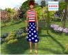 Simple July 4th Dress