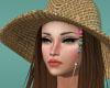 straw hat honey hair