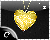 .C Heart o Gold Necklace