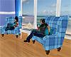Blue Beach Chat Chairs
