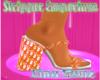 Orange Dio Chunky Heel