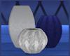 Blue Moon Triple Vases