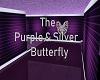 Purple Silver Butterfly