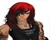Long Red Black hairs