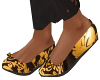 Black n Gold Flats