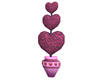 Heart Topiary Pink