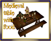 Medieval Table w/ food
