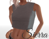 ;) Gray Cropped T