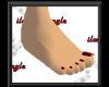 Black n Red toenail