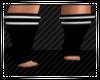 -P- *Twist Socks* Bk/Wht