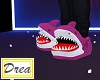 Pink Shark Slippers