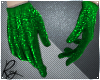 Emerald Glitter Gloves