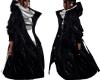 Black Leather LV Coat
