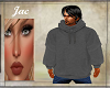 J*OVERSIZED M HOODIE GRY