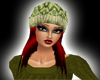 Green knit hat red hair
