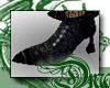 d Black Velvet Shoes