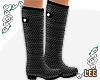 ! Grey Polka Rain Boots