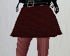 Maroon skirt w/ tights
