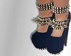 blue spike heels