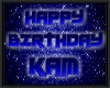 KAM birthday floor sign