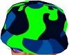 Kid Army Hat Blue Green