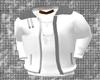 $HE$ White Bomber Jacket