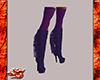 Purple Fringed Knee Boot