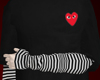 striped cdg shirt